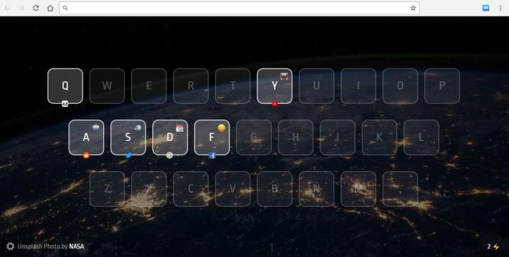 webs favoritas con atajos de teclado