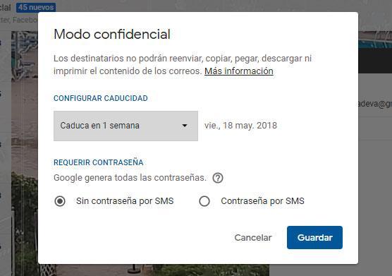 modo confidencial de gmail