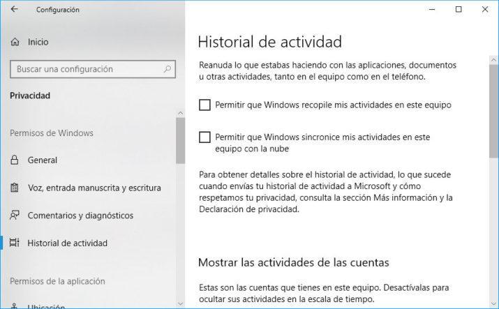 Timeline o Línea de Tiempo de Windows 10