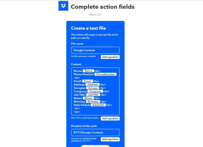copia de seguridad de los contactos de google