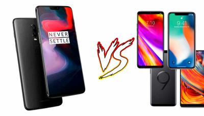 Comparativa: OnePlus 6 vs LG G7 ThinQ, Samsung Galaxy S9, iPhone X, Huawei P20 Pro, Xperia XZ2 y Xiaomi Mi Mix 2S