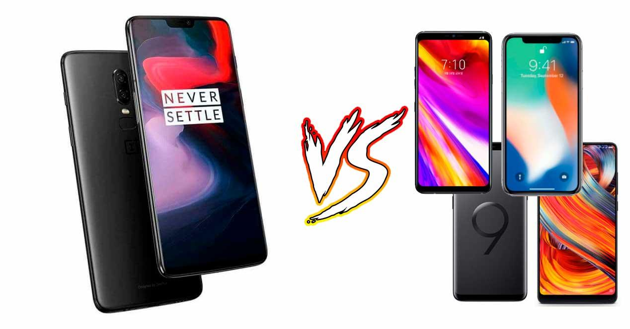 comparativa oneplus 6 vs