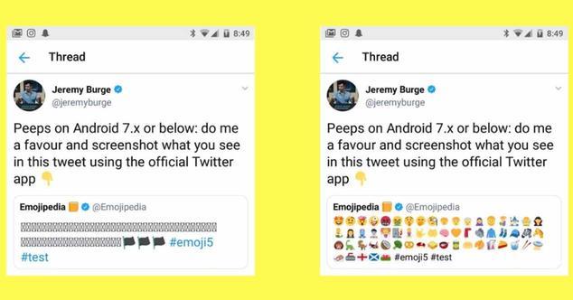 Ver noticia 'Twitter soluciona los fallos de emoticonos en Android con su propio pack de emojis'