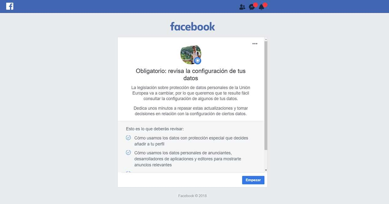 facebook condiciones de uso dark pattern