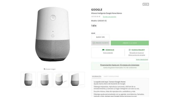 google home el corte ingles