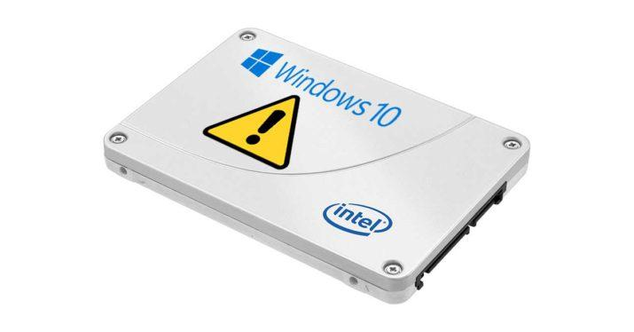 ssd intel windows 10 april update 2018