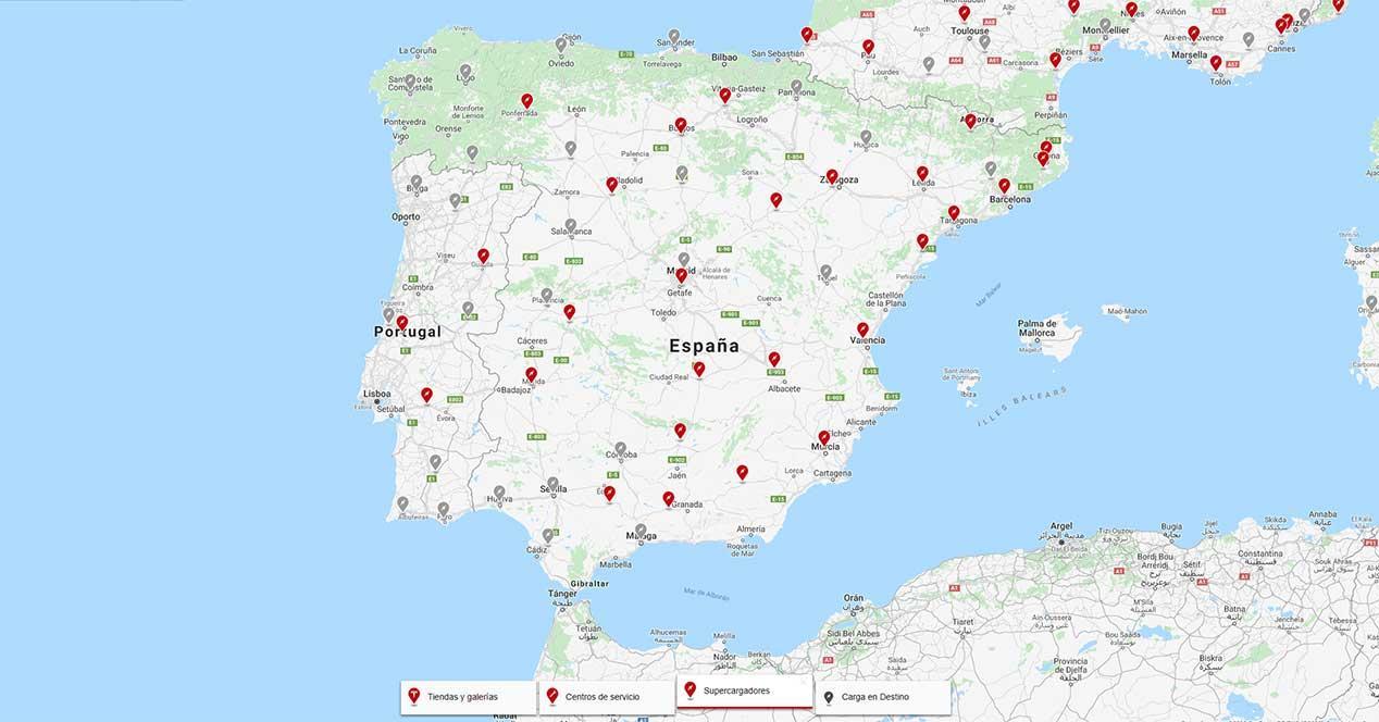 supercargadores españa 2018-2019