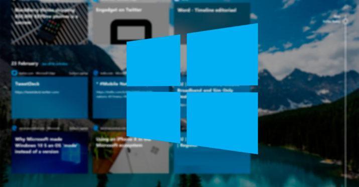 Timeline windows 10