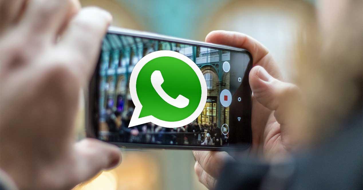 whatsapp grabar video