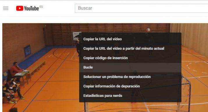 reproducir vídeos de youtube en bucle