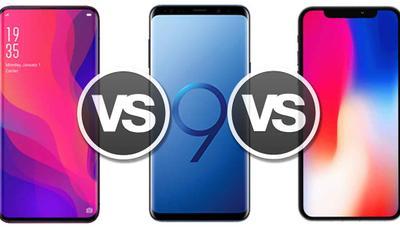 Oppo Find X, así se enfrenta el móvil todo-pantalla al iPhone X y el Samsung Galaxy S9+