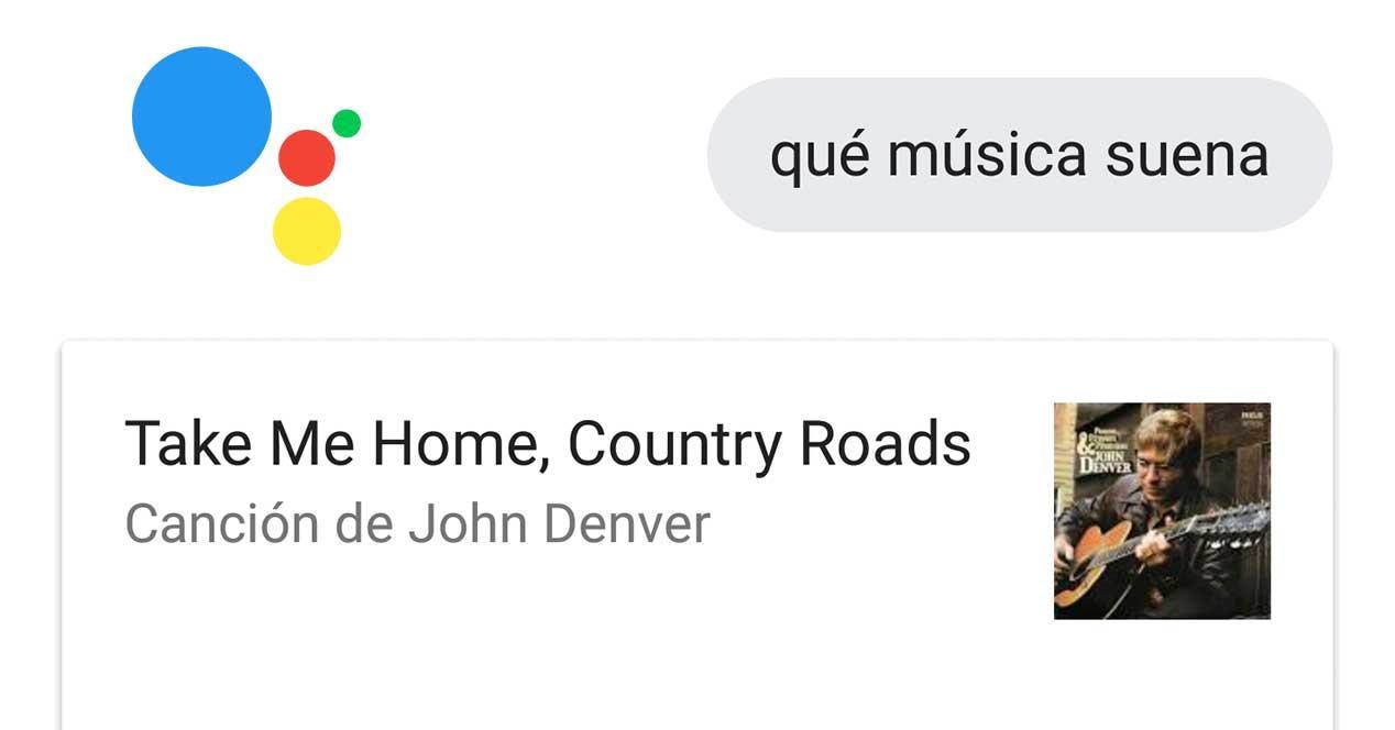 google assistant identificacion canciones musica shazam
