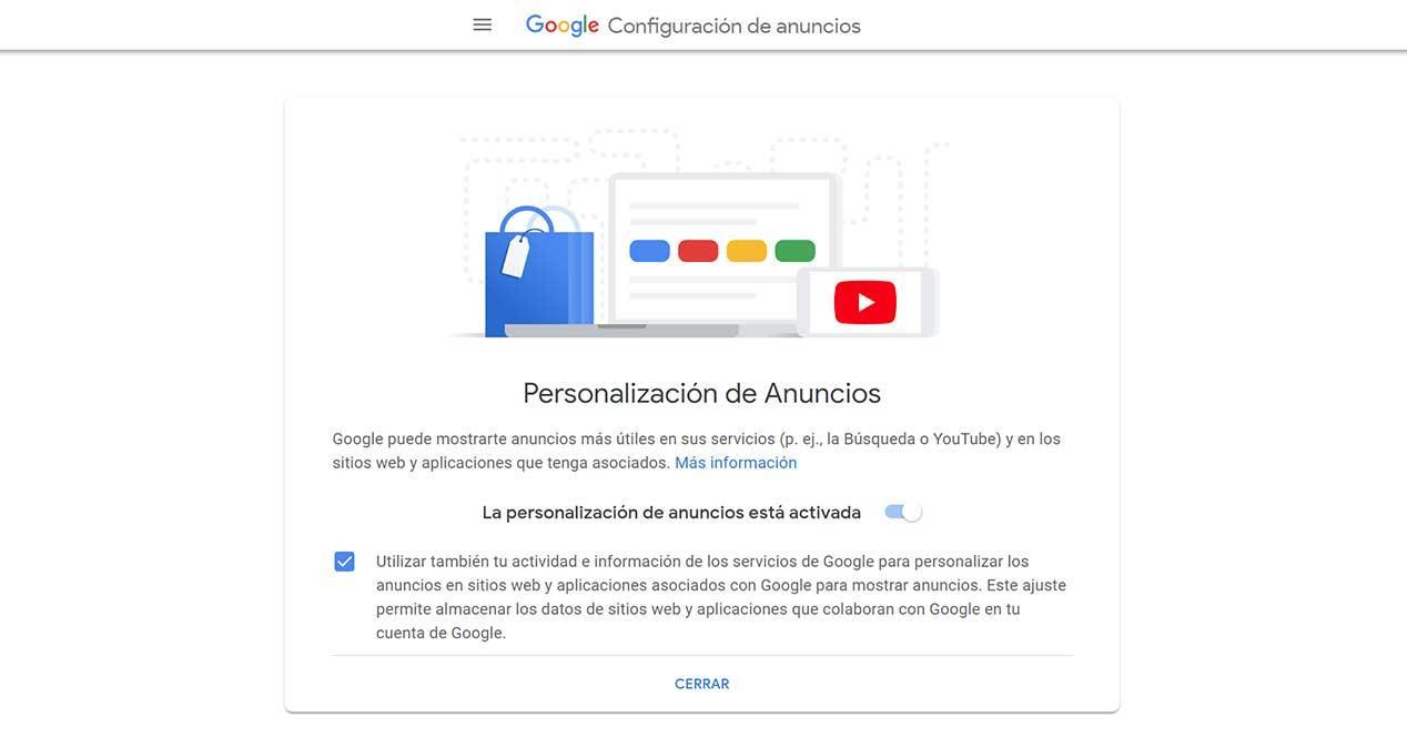 google configuración de anuncios