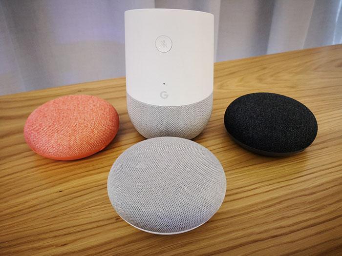 google home mini en tres colores