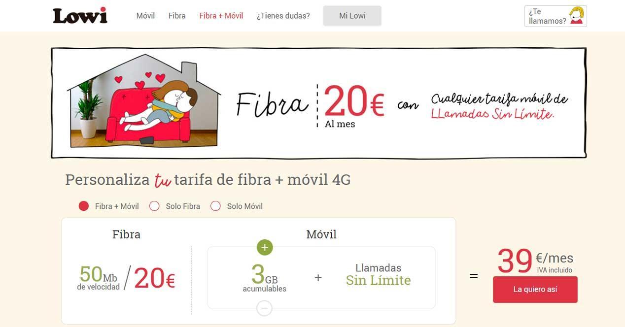 lowi 3 gb convergente 39 euros