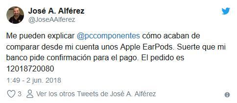 Tweet PcComponentes