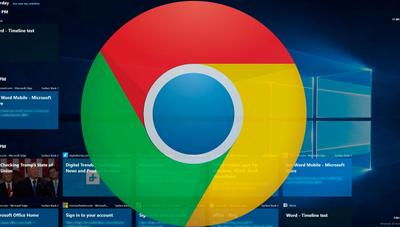 Cómo sincronizar el historial de Chrome con el TimeLine de Windows 10