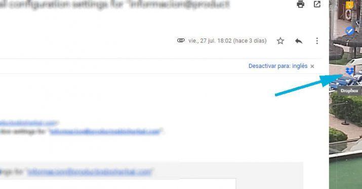 Dropbox desde Gmail