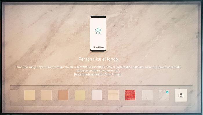 Samsung QLED 9F Modo Ambiente móvil