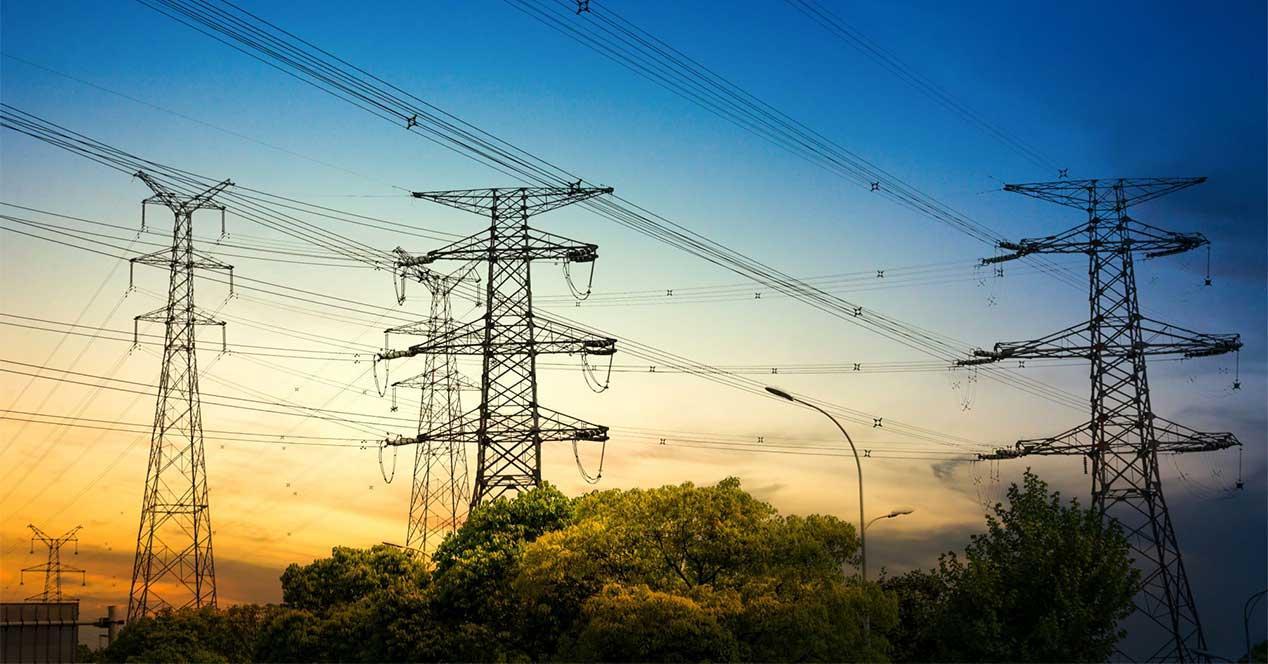 electricidad atardecer