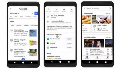 Ahora Google te sugiere conciertos y otros eventos según tus gustos
