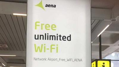 Aena sube a 20 Mbps el WiFi gratis de los aeropuertos