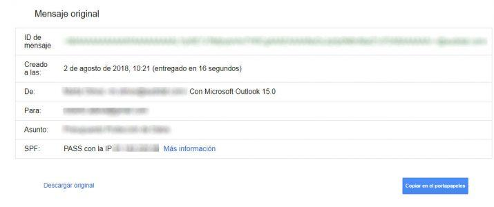 guardar mensajes de correo de Gmail