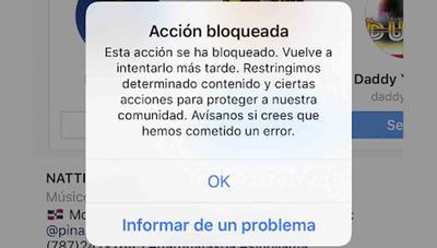 Acción bloqueada ¿por qué no puedo seguir a gente en Instagram?