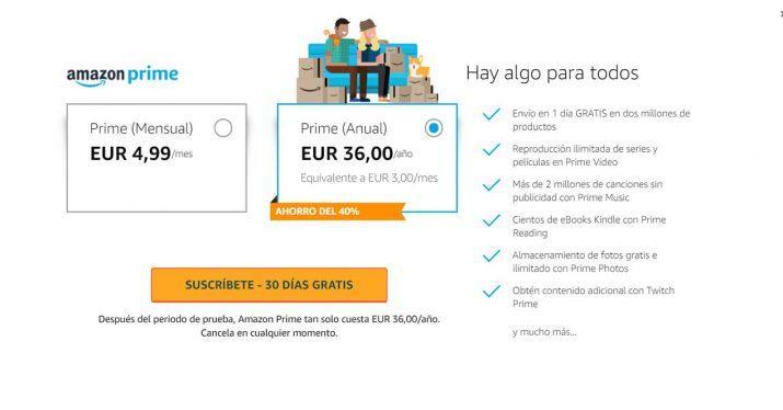 amazon prime españa subida precio 36 euros anuales