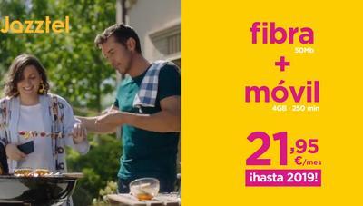 Jazztel lanza nuevas ofertas de fibra: desde 50 Mbps y 4 GB por 21,95 € al mes hasta 2019