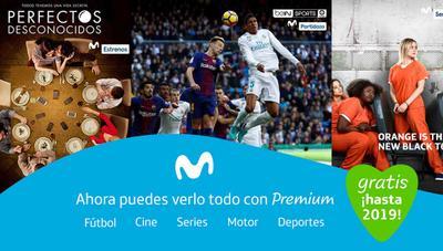 Movistar ofrece Premium gratis hasta 2019: Fusion+ con fútbol, cine, series y motor