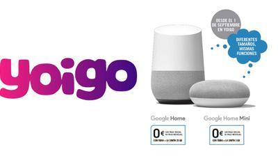 Yoigo regala Google Home, móviles y líneas DUO al contratar fibra y móvil SINFÍN