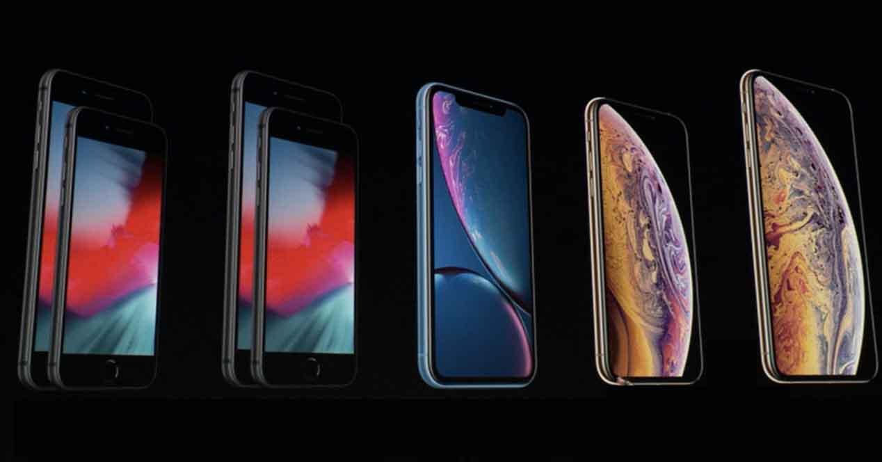 Ver noticia 'Noticia 'Comparativa de los nuevos iPhone: XS, XS Max y XR frente a iPhone X, 8 Plus y 8''