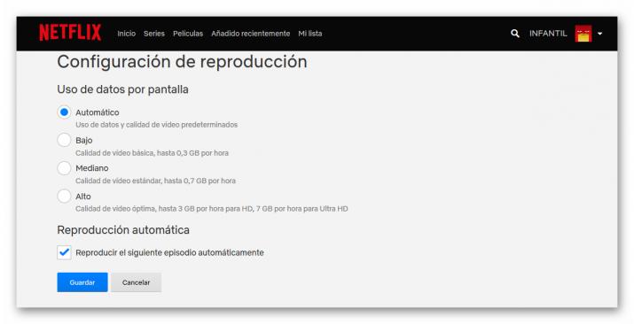 reproducción automática de episodios