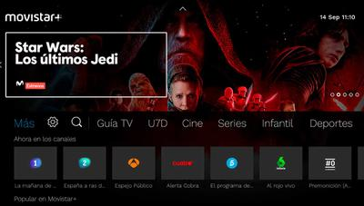 La nueva interfaz para SmartTV de Movistar+ ya disponible