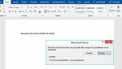 ¿Documento dañado o corrupto? 3 formas de reparar un archivo de Microsoft Word dañado