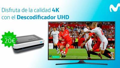 El 4K de Movistar para todos: canales, contenido bajo demanda y nuevo deco UHD por 20 euros