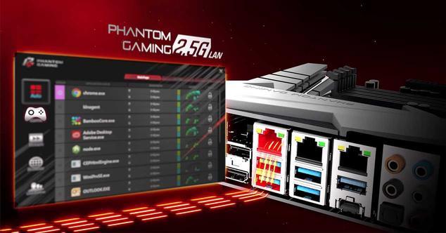 Asrock Phantom Gaming 2,5 Gbps Ethernet LAN