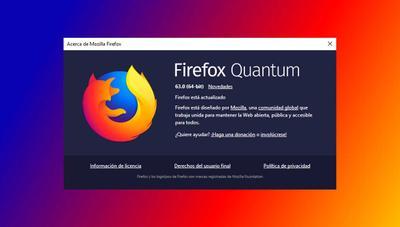 Firefox 63 Quantum ya disponible: mejor integración con Windows 10 y mejora de rendimiento
