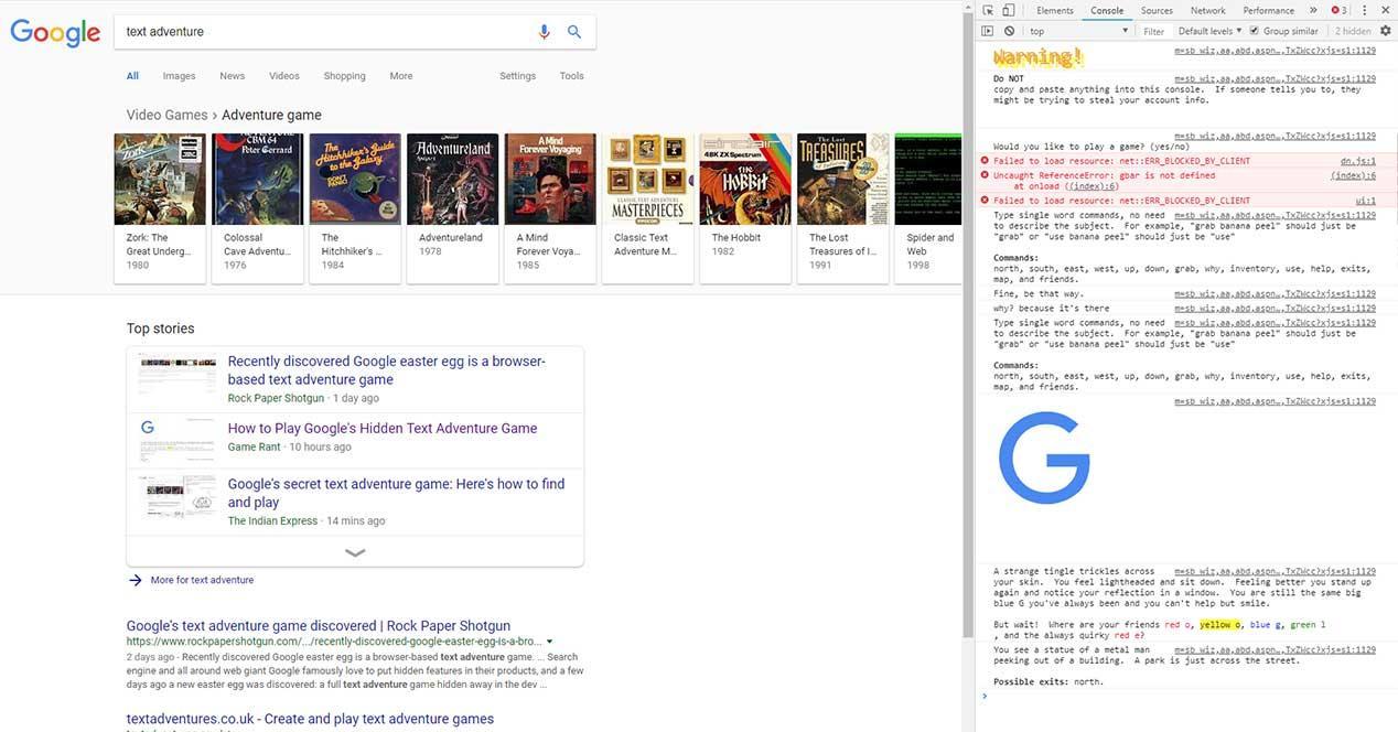 google text adventure