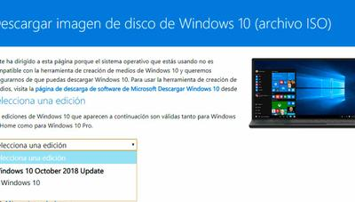 Ya puedes descargar la ISO de Windows 10 October 2018 Update (Version 1809)