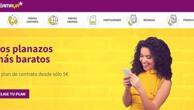 Nueva tarifa Plan Habla de Llamaya con llamadas ilimitadas por 7,5 euros