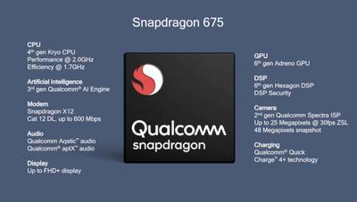 Snapdragon 675: gama media con 120 Hz, vídeo a 480 fps y un 20% más rápidos