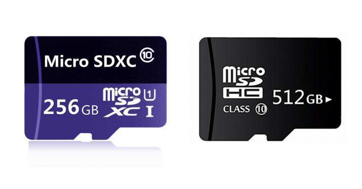 tarjetas microsd 512 256 gb falsas