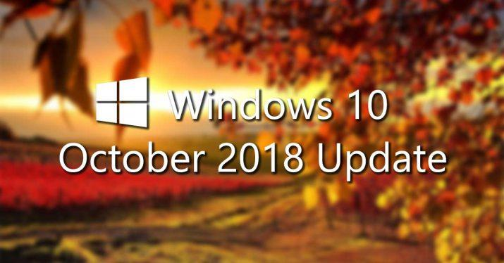 windows 10 october 2018 update final