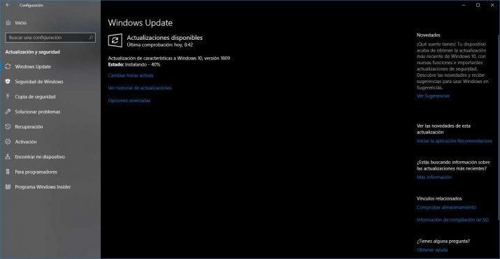 windows 10 october 2018 update instalando 40