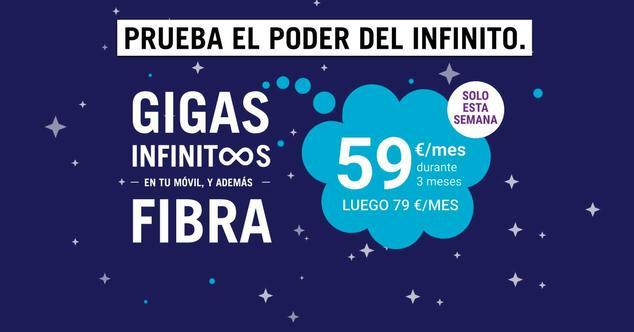 Ver noticia 'Ofertón de Yoigo: su tarifa de gigas infinitos por 20 euros menos para siempre'