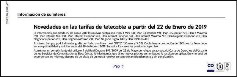 Telecable subida 2019