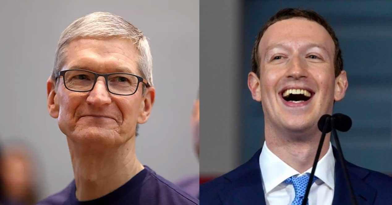 tim cook mark zuckerberg apple facebook