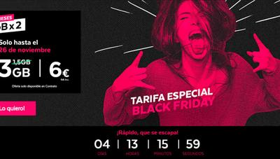 Tuenti duplica los gigas en una de sus tarifas móviles por el Black Friday 2018